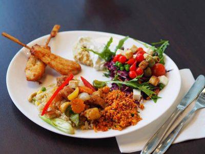 tallerken med mad hos Det Grønne Køkken
